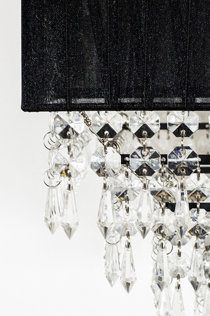 Decorative Novelty S Sparkling Black Square Fabric Chandelier Is The Perfect Accent Piece For Your Upcoming Party Wedding Or Event