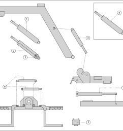 hydraulic parts diagram 1 passenger side up down cylinder 2 driver side up down cylinder 3 sun valve 4 fold cylinder 5 jaws lock valve 6  [ 3920 x 3597 Pixel ]