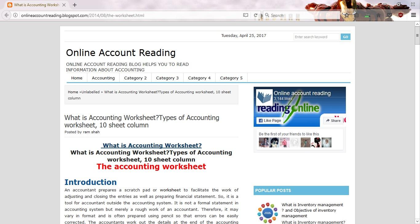 12 Column Worksheet