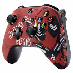 Deadpool Fan Art soft touch Xbox One S controller or faceplate