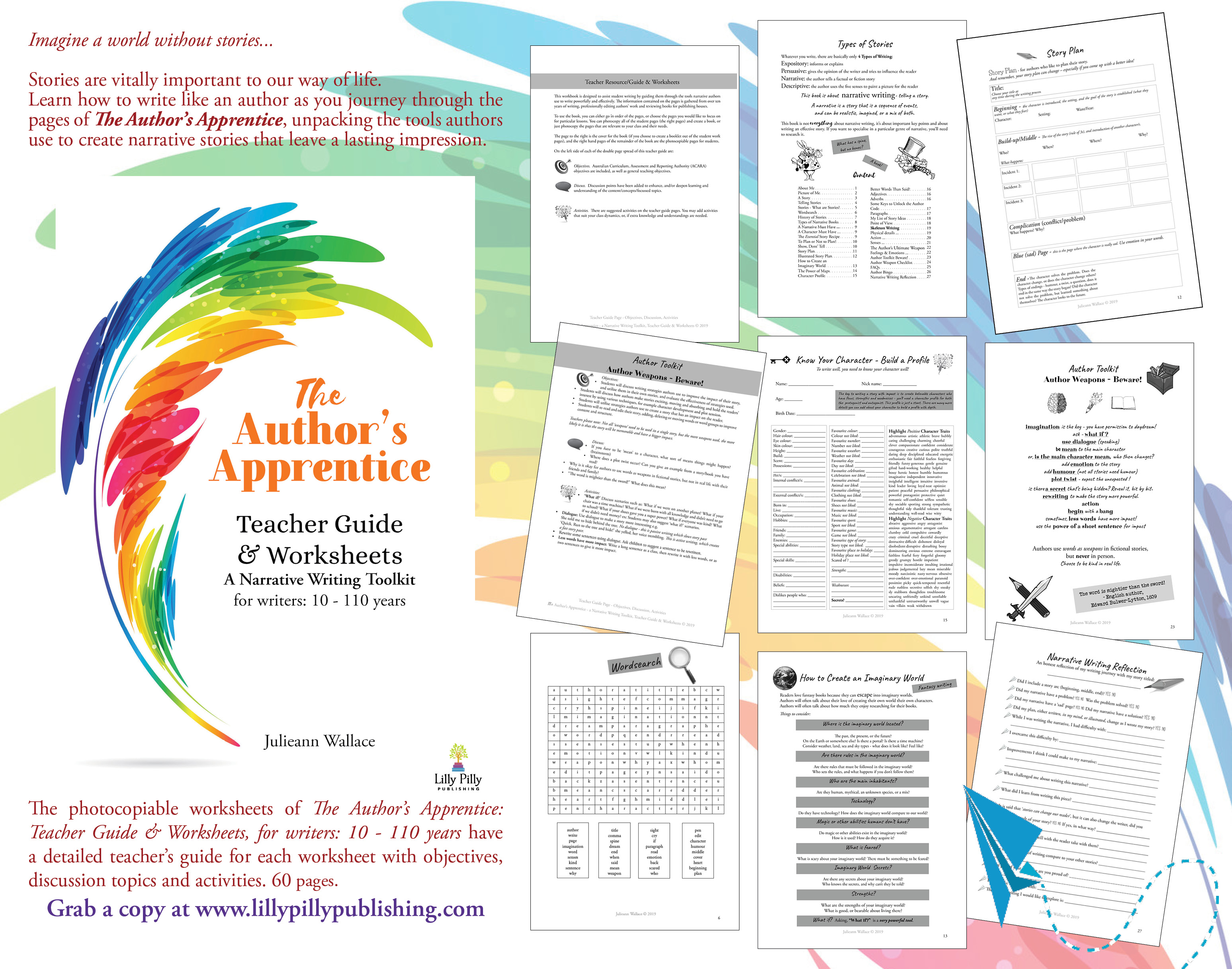 The Author S Apprentice Teacher Guide Amp Worksheets For Writers 10