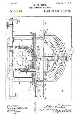 Edison Typewriter Page