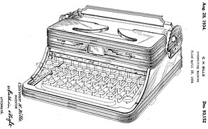 Depression Era Royal Portable Standard and De Luxe Typewriter