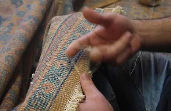 tapis d orient fait main
