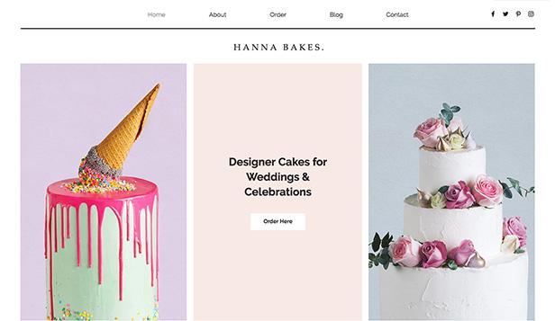 Cafe Bakery Website Templates Restaurants Food Wix