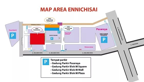 Location Ennichisai Blok M