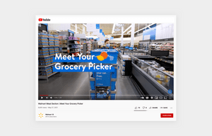 Walmart behind the scene social media content example in a store
