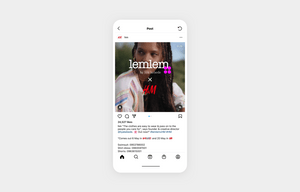 h&M's Instagram content example of working with another brand