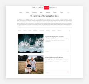 blog design the ultimate photographer