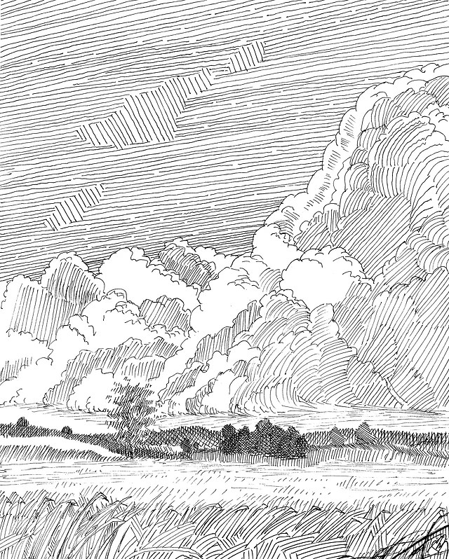 Pen And Ink Clouds : clouds, Works, Richard, McConoce