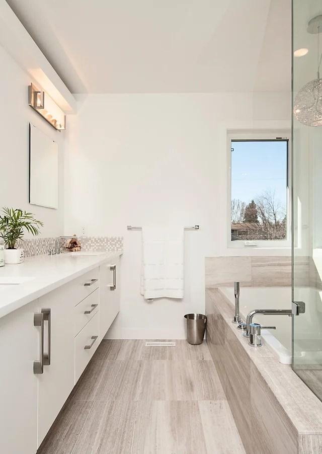 bathroom tile backsplash installation