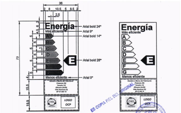 Registration and Energy Efficiency Certification of Lamps