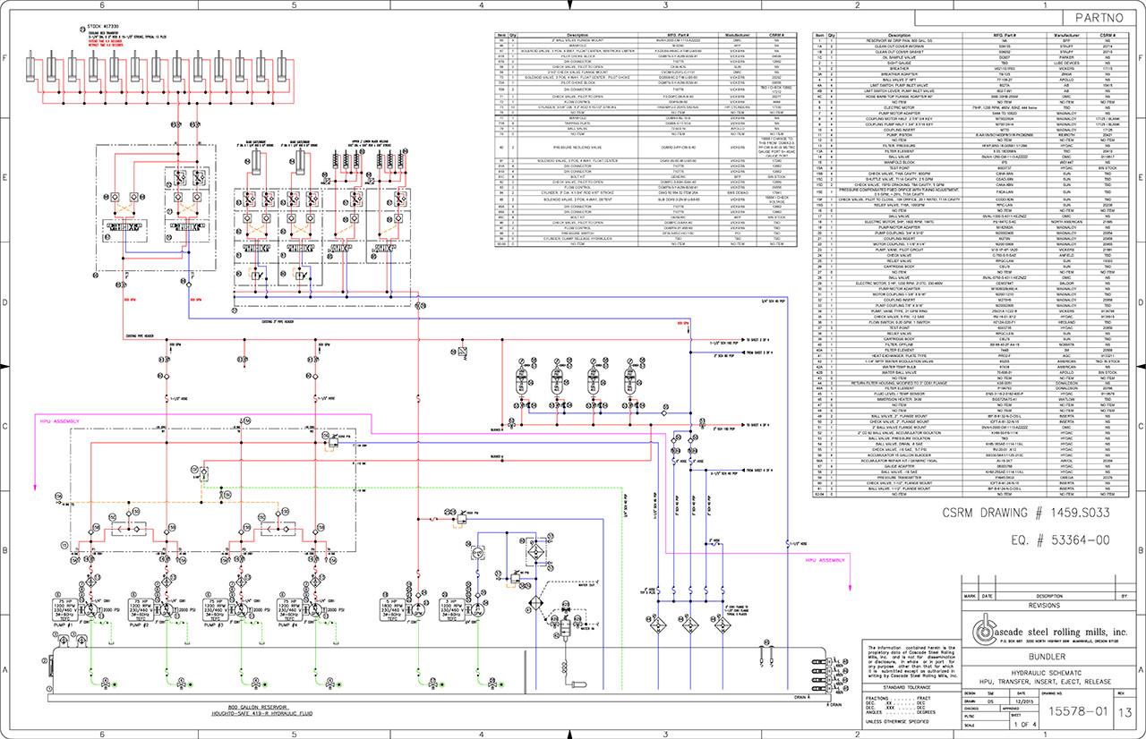 hight resolution of hydraulic schematic