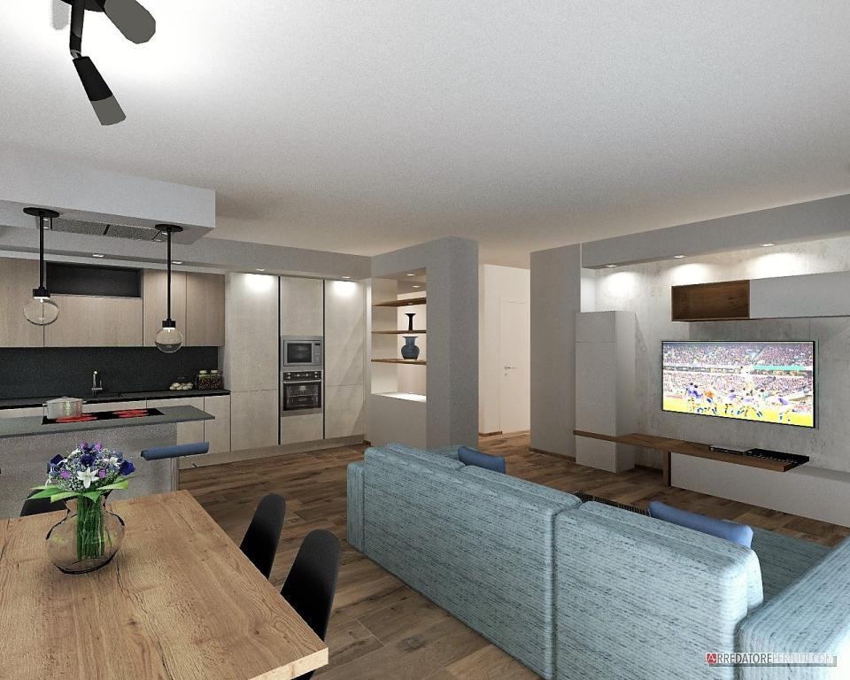 Bancone e ribassamento a soffitto delimitano lo spazio della cucina. Come Arredare Cucina E Soggiorno Insieme 5 Casi Da Progetti