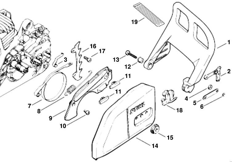 Stihl MS250: Repairing the Chain Brake