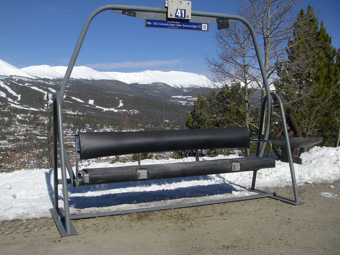 buy ski lift chair walmart camping chairs folding breck ironworks
