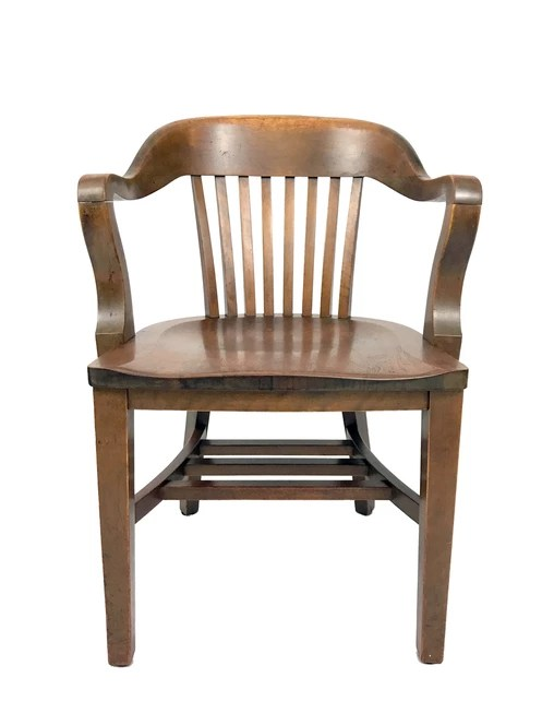 sikes chair company mid century plywood lounge and ottoman bank of england arm by the high quality american made vintage solid wood armchair early 20th walnut office from