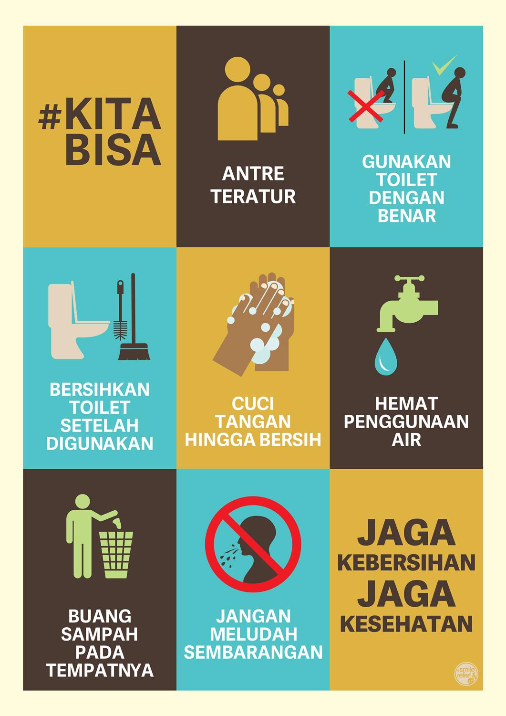 Jagalah Kebersihan Toilet : jagalah, kebersihan, toilet, Poster, Toilet, Bersih, Tulisan