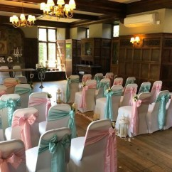 Wedding Chair Covers East Midlands Positions Cover Hire Loughborough Notts Leics Derby Weddings Tiffany Blue Green Sashes Aisle Flowers Rothley Court