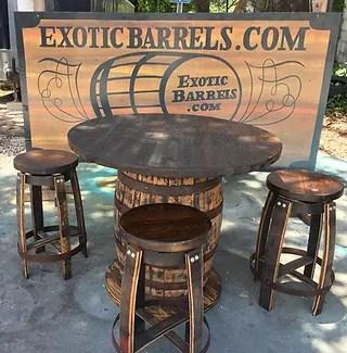 rustic restaurant barrel furniture