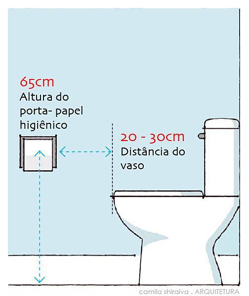 camila shiraiva . Arquitetura   Dimensões - Vaso e porta-papel higiênico