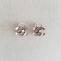 Vintage Chanel Coco Mark Silver Clip-on Earrings ...