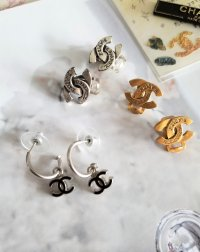 Vintage Chanel Coco Mark Gold Clip-on Earrings ...