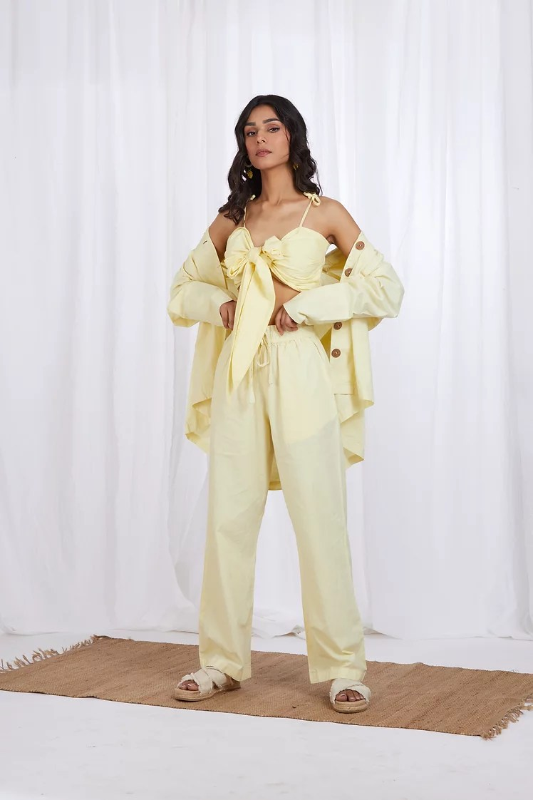 Florence set in Lemon Yellow