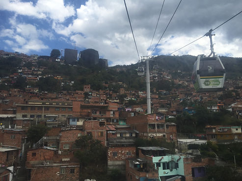 Cables cars in Medellin, Colombia