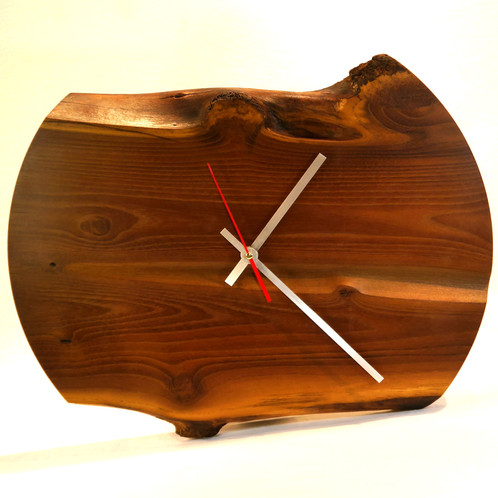 Rustikart Design Wanduhr WU100, Holzdesign, Wanduhr XXL