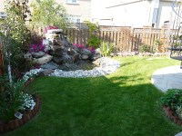 Markham Landscaping | Corner Feature Garden, Pebble Border