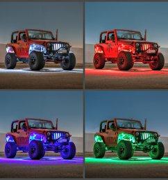 truck jeep rgb w color change rock light kit [ 2000 x 2000 Pixel ]