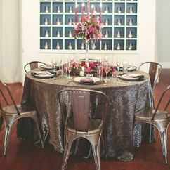 Chair Cover Rentals Dallas Texas Arm Covers For Office Chairs Am Linen Rental Tablecloth Platinum Crushed Iridescent Satin Tablecloths