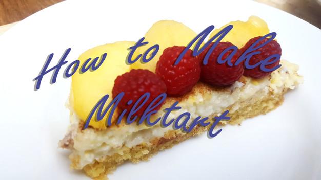 Baking Milktart