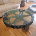 Round coffee table with tempered glass top soldcall for custom build
