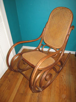 rocking chair realty fisher price toy original thonet bentwood real miami vintage