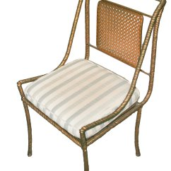 Steel Chair Gold Remote Control For Massage Greyhound Antiques Mesa Az Vintage Metal Chairs In