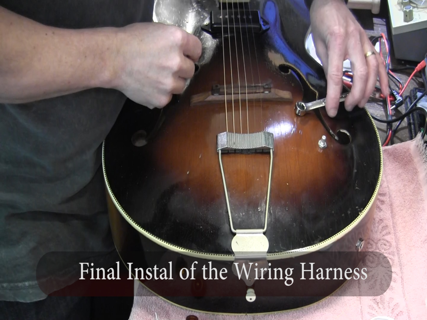 hight resolution of install pickup in vintage kay silvertone arline archtop f hole