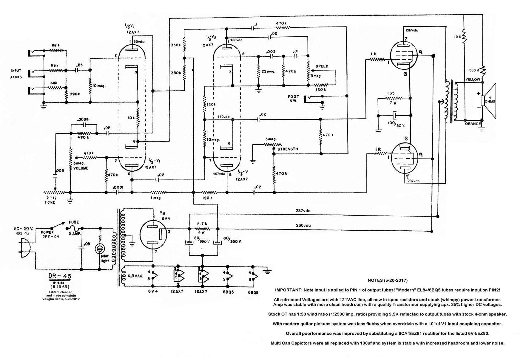 Wiring Diagram For 4x12 Guitar Cab