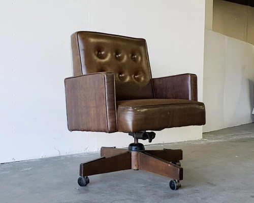 vintage office chairs ergonomic chair images sunbeam desk brown