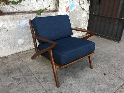 z chair mid century repair outside chairs style in navy