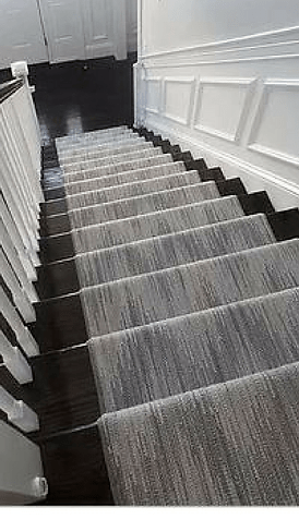 Stair Runners Carpet Hall Runners K Powers Company | Gray Carpet On Stairs | Contemporary | Geometric | Design | Grey Pattern | Farmhouse