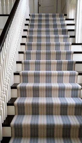 Stair Runners Carpet Hall Runners K Powers Company | Grey Patterned Stair Carpet | Teal | Black | Farmhouse Style | Stair Landing | Wall