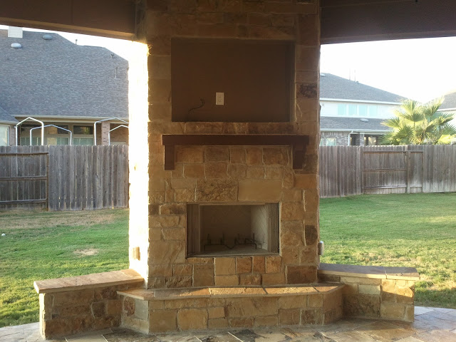 Fireplace Houston Outdoor Kitchens,patio Covers -katy Tx,houston | Angled