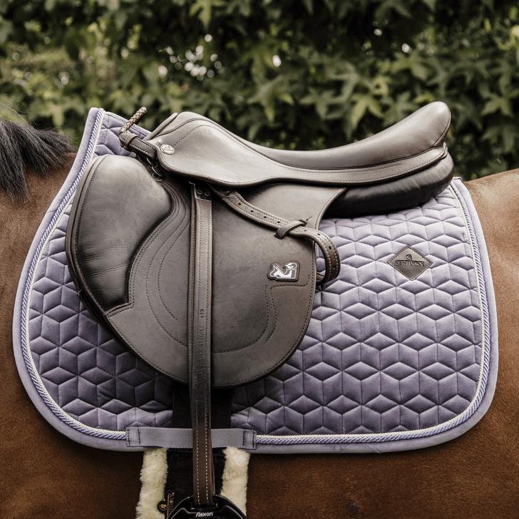 tapis de selle velvet violet kentucky horsewear demivolte