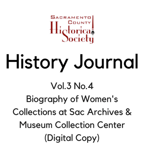 Vol.3 No.4 Biography of Women's Collections at Sac