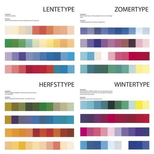 Kleurtype bepalen for Wat zijn de koele kleuren