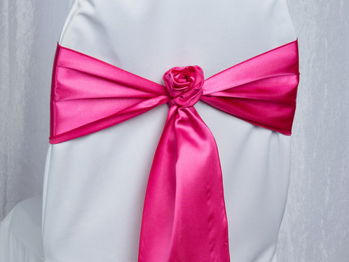 hot pink chair traditional occasional chairs satin sash