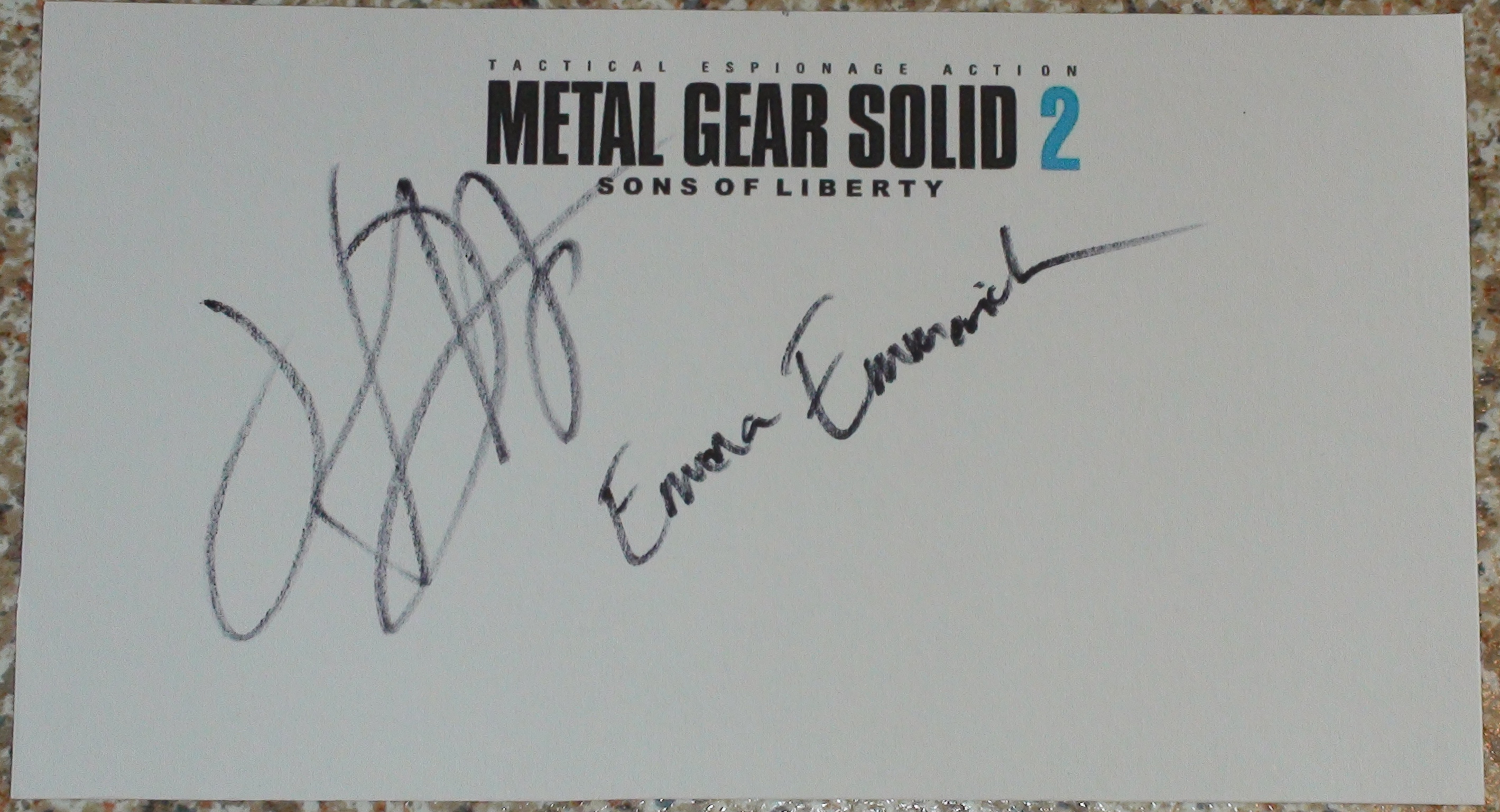 Metal Gear Solid Video Game Autographs