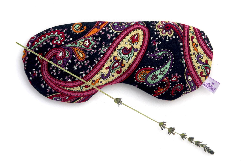 relaxing lavender eye pillow turkish oriental design cotton black